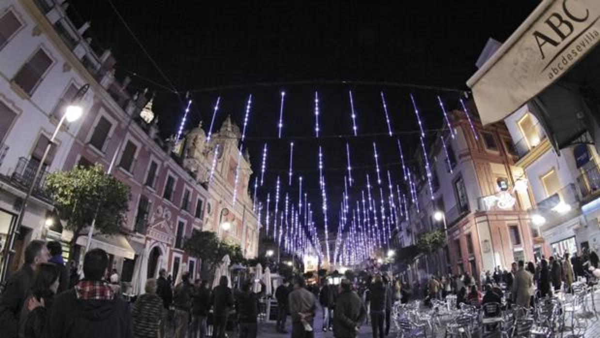 Ms calles iluminadas para la Navidad de 2017 en Sevilla