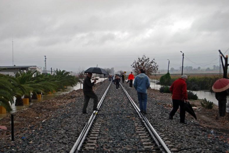 Vía férrea entre Sevilla y Mérida