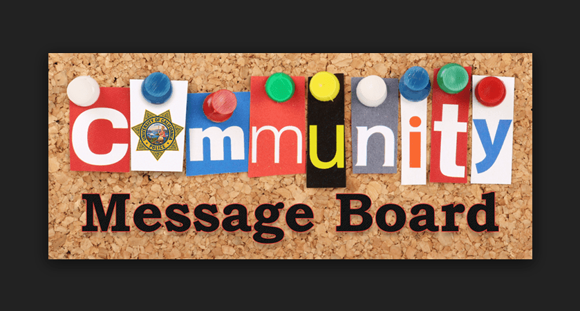 community message boards