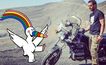 De Sevilla a Dubái en moto para entregar la bandera de la EXPO92