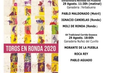 Morante, Roca Rey y Aguado, cartel de la LXIV Goyesca de Ronda