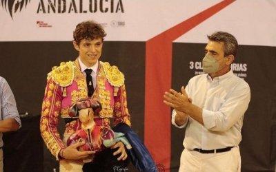 Jorge Martínez, en la novillada de Sevilla de los triunfadores