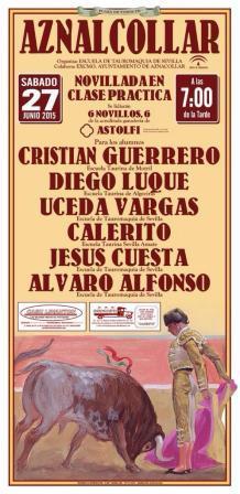 cartel novillada Aznalcóllar