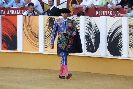 //Andalucia// 19-8-2015  Malaga Cuarta corrida de feria en la Malagueta para el unico espada Alejandro Talavante Fotografo  ANTONIO PASTOR
