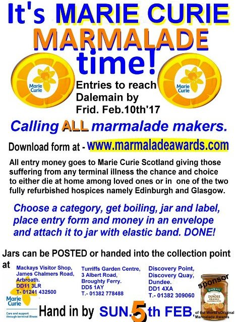 It's Marie Curie Marmalade Time – Calling all marmalade makers!