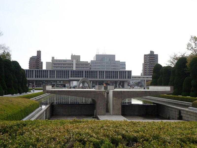 Chama da paz parque memorial da paz em Hiroshima