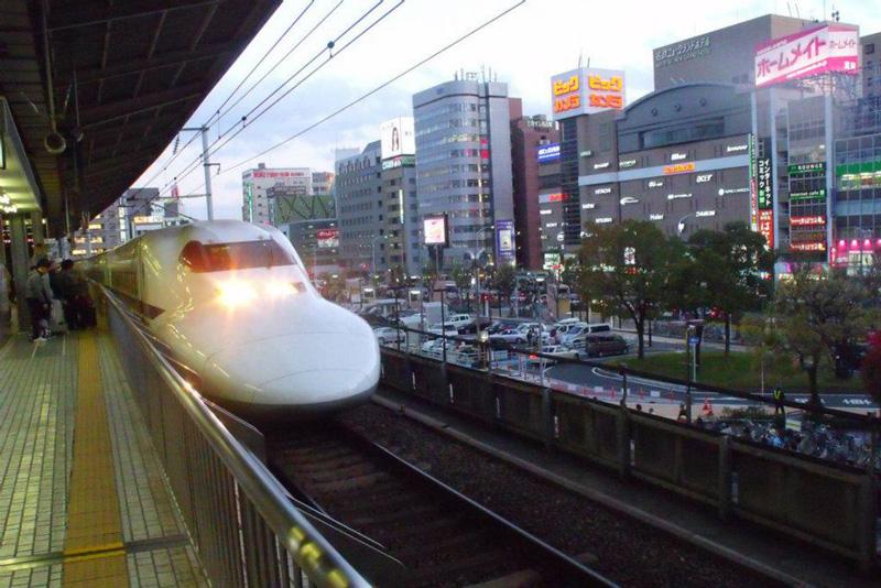 Shinkansen chegando