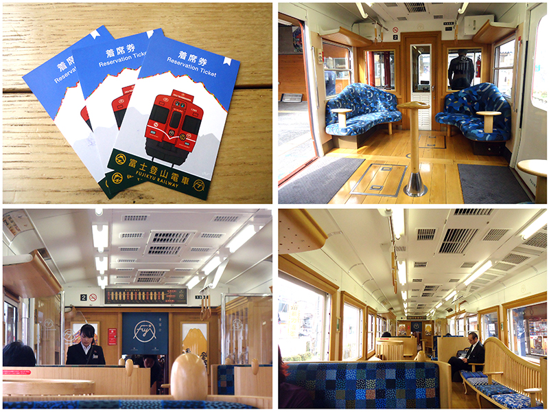 no trem turistico para Kawaguchiko