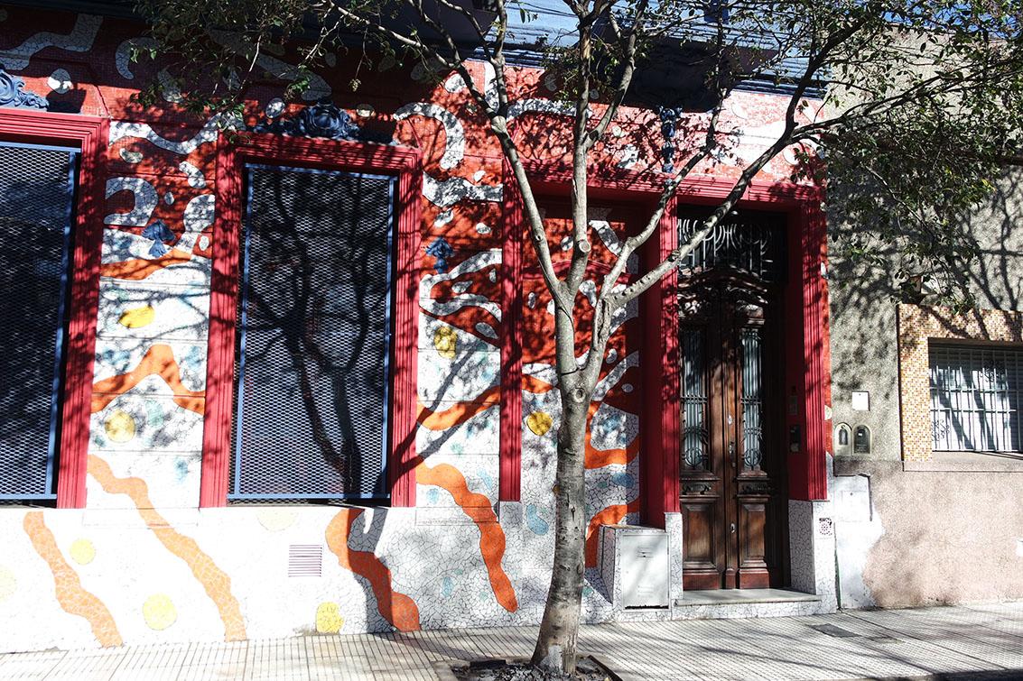 Mosaicos do bairro de Barracas
