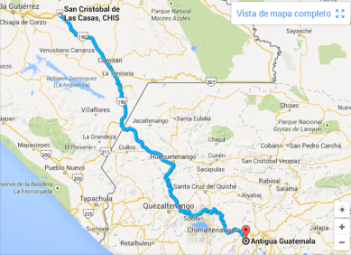 Ruta Chiapas Guatemala