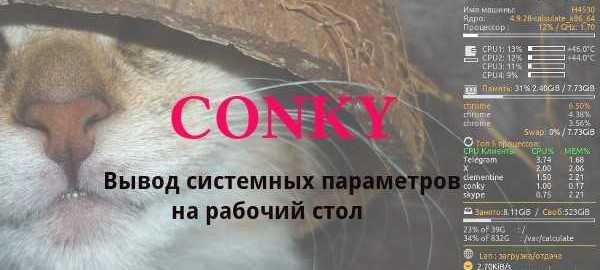 Conky удобная настройка sevo44