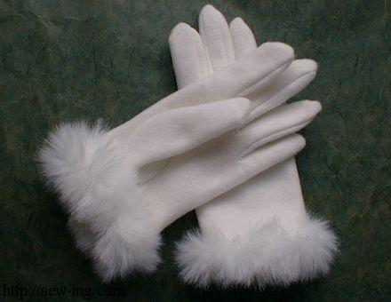 Puras luvas brancas