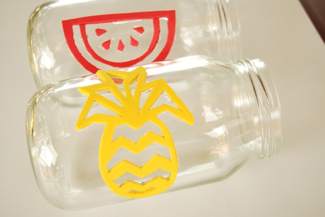 Watermelon and pineapple fabric printing stamps