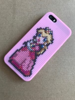 Made for myself! An iPhone 5 silicone phone case featuring Princess Peach.