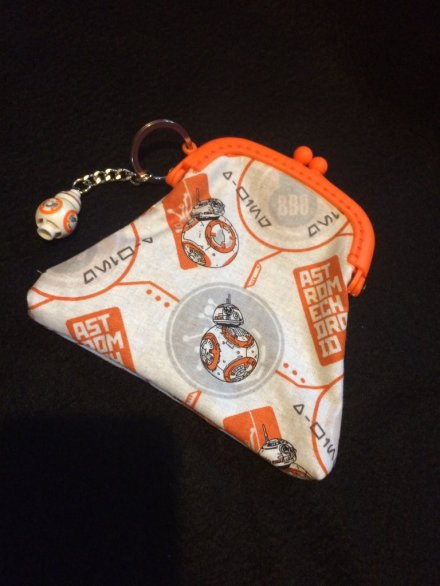 Star Wars BB-8 coin purse with matching minifigure keyring.