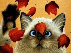 35426-cross-eyed-cat-falling-leaves-illustration