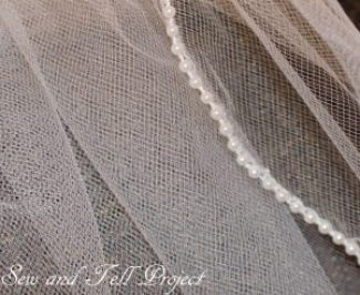 How to make a veil with a beaded edge