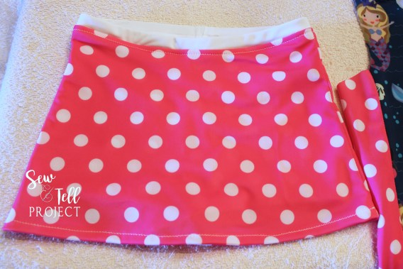 Add a cute skirt to your boyshort swim bottoms!