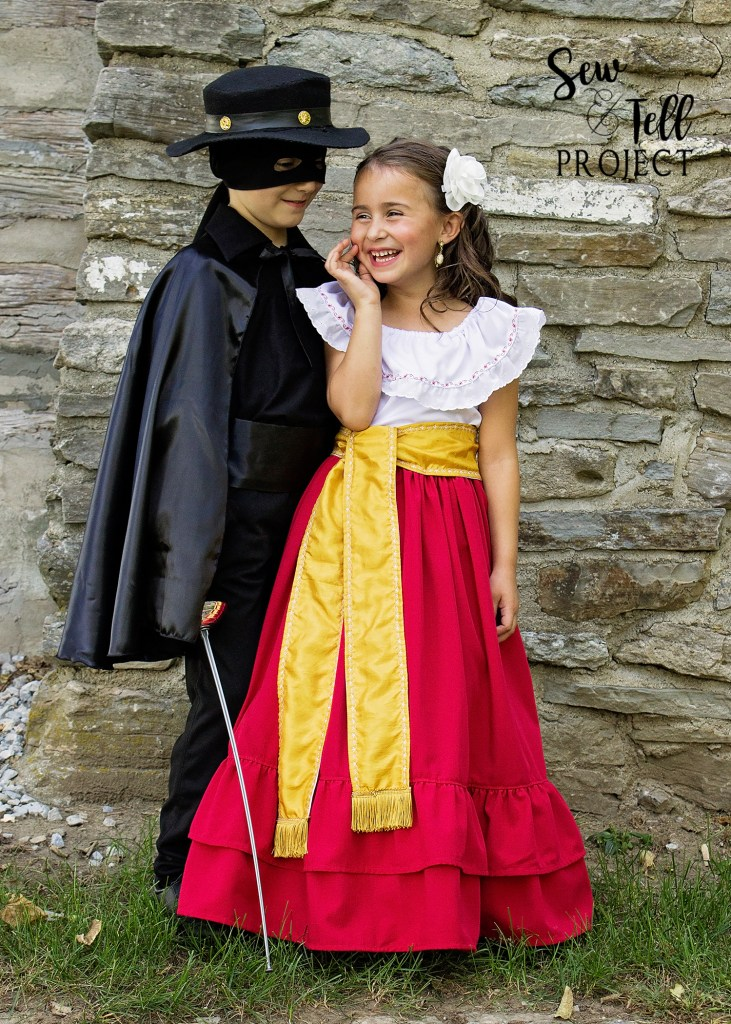 Zorro and Victoria Halloween Costume - Project Run and Play