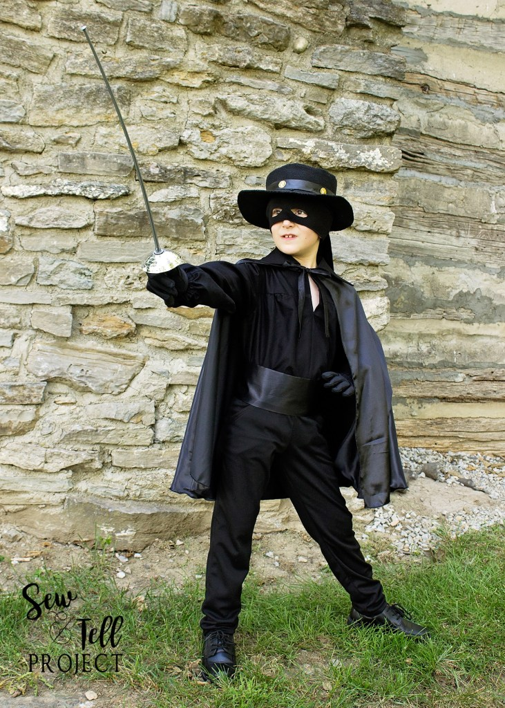 Zorro Costume - Project Run and Play