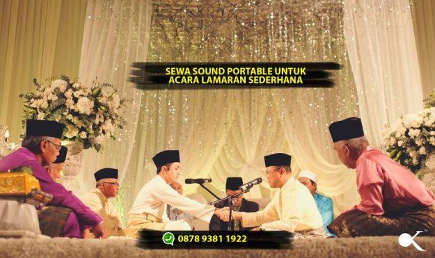 Sewa Speaker Portable untuk Acara Lamaran Pernikahan di Pekanbaru