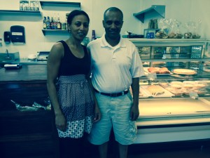 """Bakery owners Teshome """"Tesh"""" and his wife Assegedech """"Asse"""" Belayneh."""