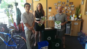 From left to right: Andre Xiong (Hennepin County Environment & Energy), Amy Maas (Hennepin County Environment & Energy) and Joshua Houdek (Sierra Club).  Photo by Michelle Rosier