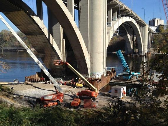 Franklin Bridge construction - Oct 2015