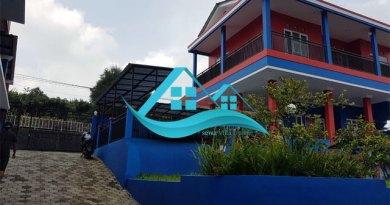 villa puncak kolam renang