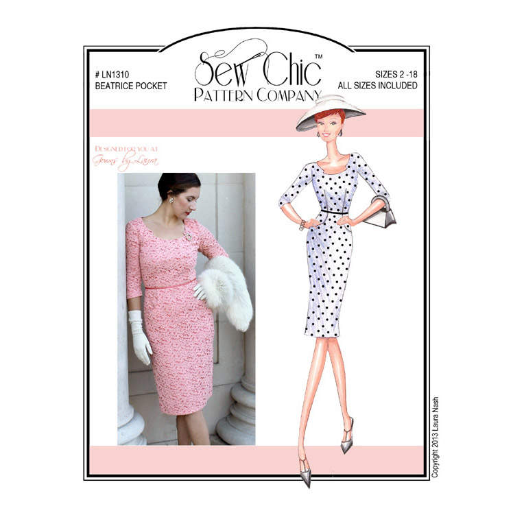 LN1310 Beatrice Pocket Dress (Paper or PDF) | Sew Chic Patterns