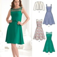 New Look 6243 - Fit and flare summer dress