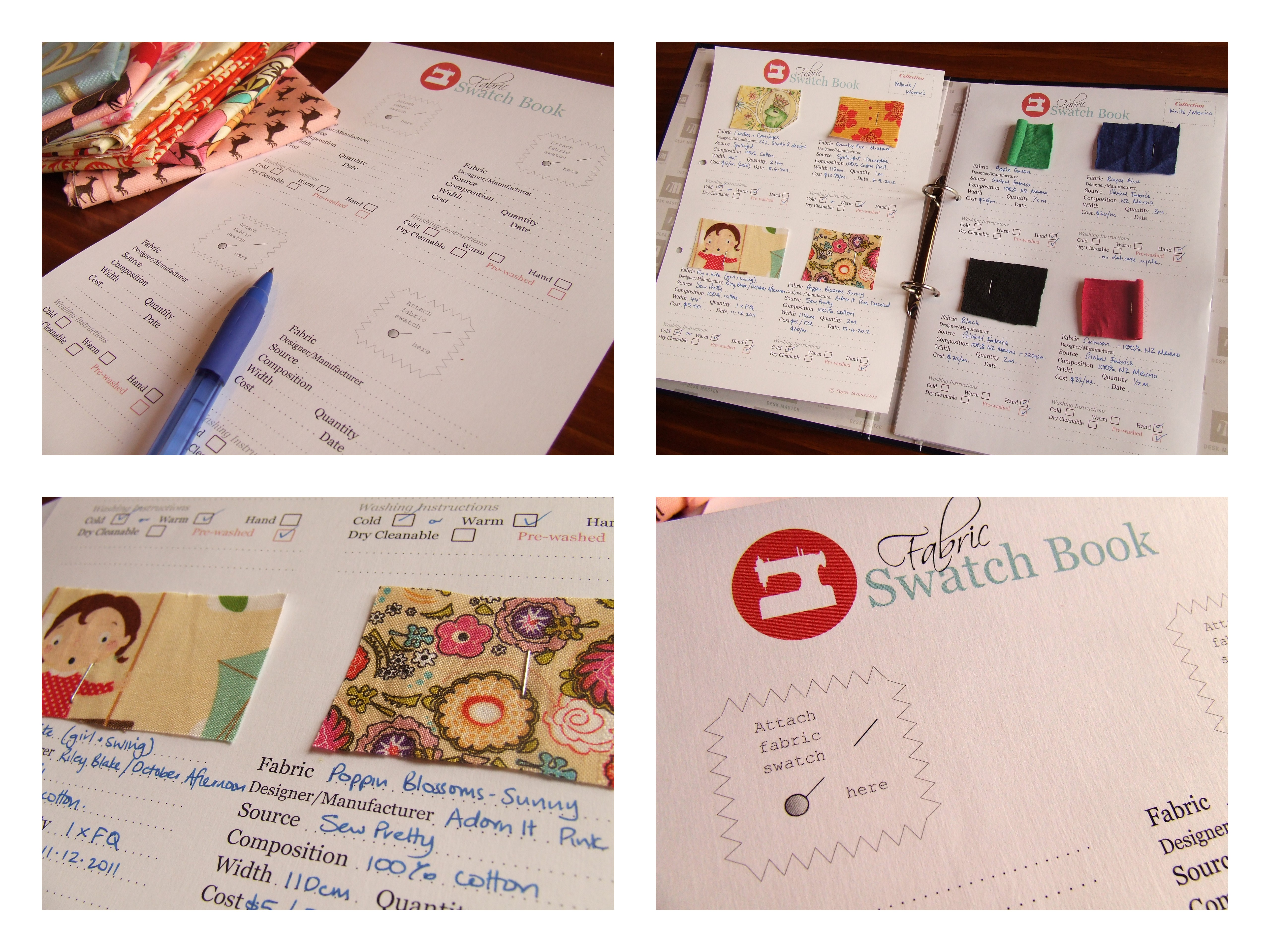 Create Your Own Fabric Swatch Book Take Stock Of Your