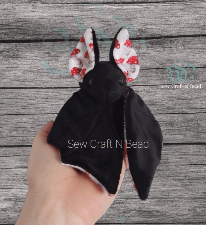 Black Mushroom Bat Plush 1