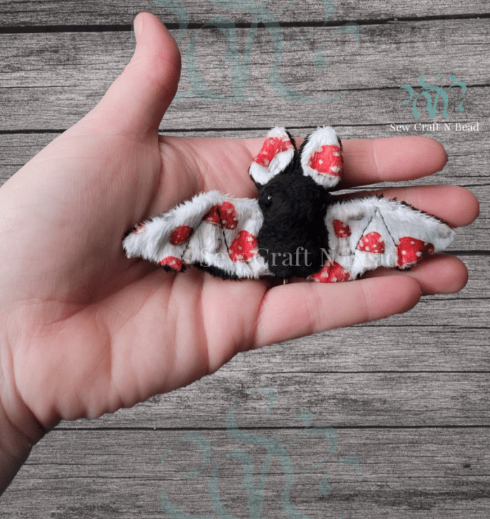 Mini Black Mushroom Bat Plush