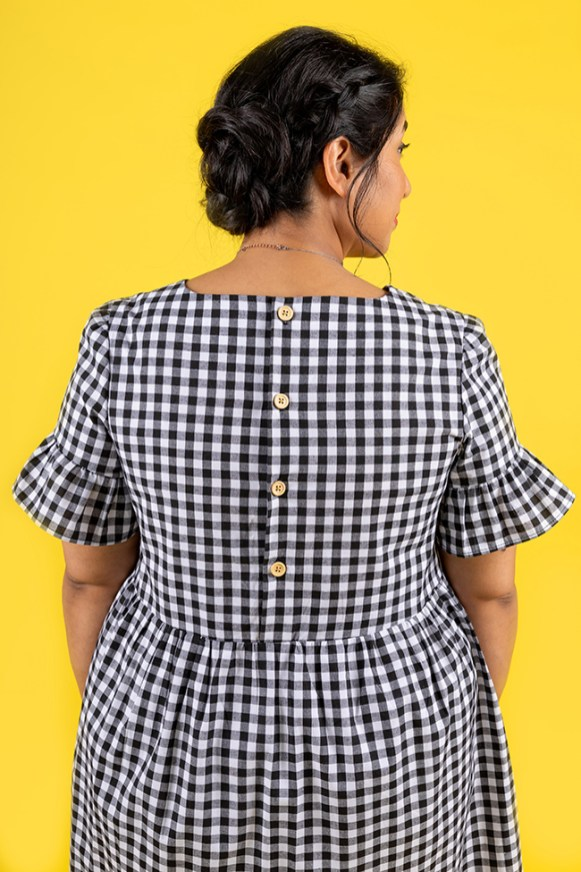 Tilly and the Buttons Indigo smock top and dress add-on 9