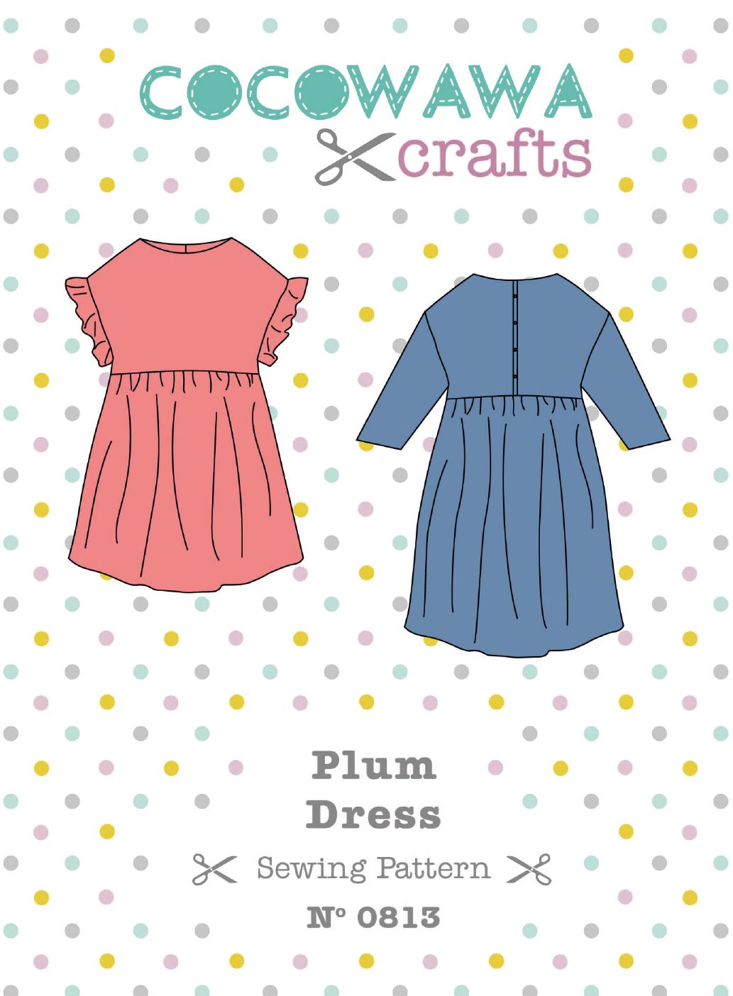Plum-Dress-sewing-pattern-CocoWawa-Crafts-cover