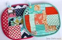 Scrappy Pot Holders - Tutorial - Sew Delicious