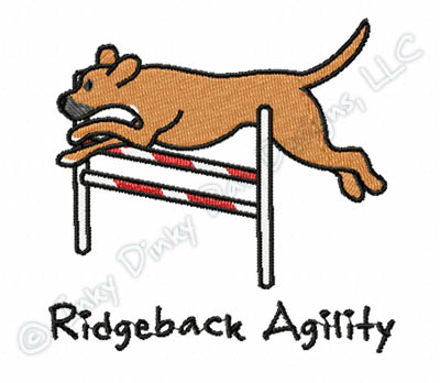 Rhodesian Ridgeback Embroidery