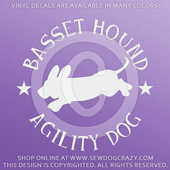 Basset Hound Agility Car Decals