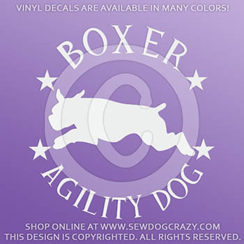 Boxer Agility Decals