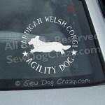 Cardigan Welsh Corgi Agility Car Sticker