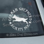 German Shepherd Agility Car Window Stickers