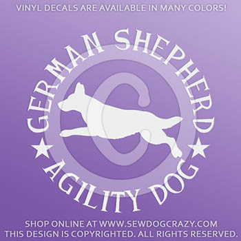 German Shepherd Agility Decals