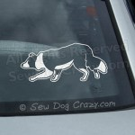 Border Collie Herding Car Window Stickers