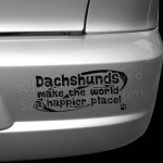 Happier Place Dachshund Bumper Stickers