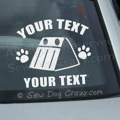 Custom Flyball Car Window Sticker