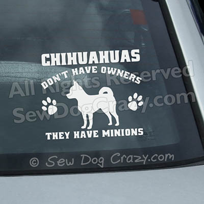 Funny Chihuahua Car Window Decals