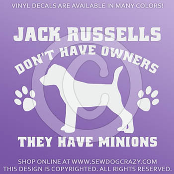 Funny Jack Russell Window Decals