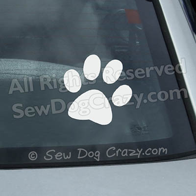 Paw Print Car Window Stickers