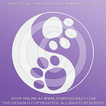 Dog Yin Yang Decals